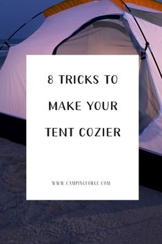 Tent camping doesn't have to be sterile and boring. With these simple tips you can make it a warm and cozy environment. If you want to go camping, then keep your tent nice and cozy with these handy tips. Camping Ideas, Camping Hacks With Kids, Camping Diy, Camping Must Haves, Camping Glamping, Camping Supplies, Camping Essentials, Camping Survival, Outdoor Camping