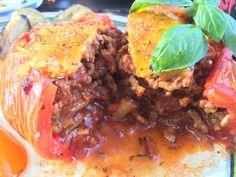 fyldte tomater med oksekød