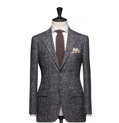 Tailored Jacket – Fabric 8128 Plain Grey Cloth weight: 280g Composition: 60% Silk, 36% Wool and 4% Mohair