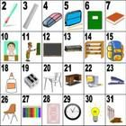 32 School words on a large poster. These posters makes teaching School vocabulary easier. The numbers on the poster lend to fun activities.  Great ...
