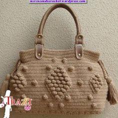 Patrón cartera a Crochet. Paracord, Straw Bag, Burlap, Reusable Tote Bags, Personality, Pattern, Macrame, Dune, Crochet Pouch