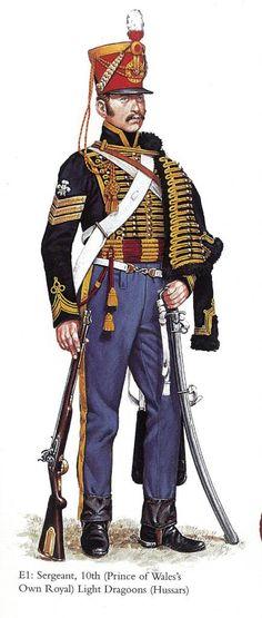 British 10th Regt Hussars British Light Cavalry