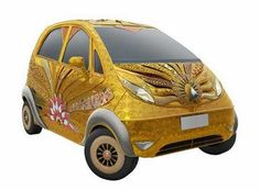 wow little expensive GOLD car!!!