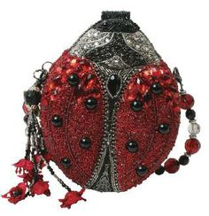 Mary Frances Lady Bug Beetle Red Black Silvr Ladybug Bag Purse Handbag New SP 13 | eBay