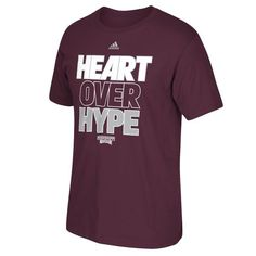 Mississippi State Bulldogs adidas Heart Over Hype T-Shirt – Maroon - $21.99
