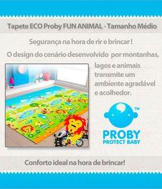 Tapete ECO Proby Fun Animal - Tapete a base de Polietileno (PE), ecológico, super leve, antitérmico, antiderrapante e fácil limpeza. Disponível nos tamanhos P, M, G e XG! Consulte: www.lojadaskom.com.br/proby