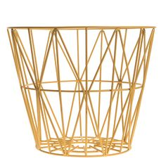 Wire - Container Ferm Living on YOOX. The best online selection of Containers Ferm Living. YOOX exclusive items of Italian and international designers - Secure payments Yellow Home Accessories, Yellow Home Decor, Office Accessories, Decorative Accessories, Deco Design, Design Shop, Moderne Couch, Console Design, Iron Wire