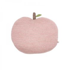 Apple Pillow | White + Rose Stripes  Product Details:  Materials: baby Alpaca wool Made in: Peru under fair trade conditions Care: gently spot clean Dimensions: 31 x 14cm (16 x 13 inches) ...