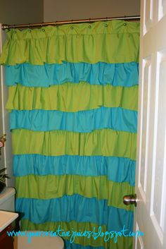 Creative Juices: My 9.00 Ruffle Shower Curtain