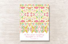 He Has Made Everything Beautiful In Its Time Floral Watercolor Print (Ecclesiastes 3:11)