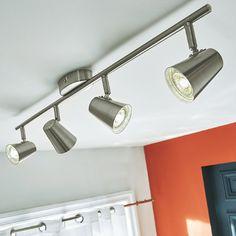 Plafonnier arc 4 spots LED retrofit Bimini Metal l.69cm 3,3W - CASTORAMA
