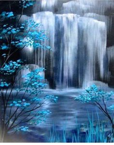 #paint #waterfall