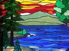 Image result for stained glass natural scene paintings