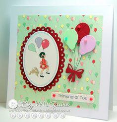 "Beautiful Belle & Boo card ""Thinking of You"" by Liz McGuire #craft #papercraft #cardmaking #belleandboo @belleandboo1"