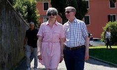 Theresa May and her husband Philip in Lake Garda, Italy