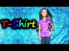 ▶ How to make doll clothes - T-shirt - YouTube
