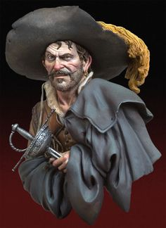 The Looter, 1640 S9-B29 165 mm 1/10 | The Bust Collection | Andrea Miniatures | Andrea Europe