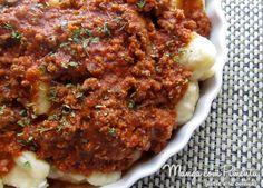 Gnocchi di Patate ou Nhoque de Batata, perfeito para um almoço do Dia dos Pais, clique na imagem para ver a receita no blog Manga com Pimenta.