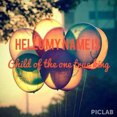 Hello my name is child, by mathew west.