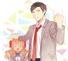 Sakura Chiyo x Nozaki Umetarou / Gekkan Shoujo Nozaki-kun Manga Anime, Anime Art, Oresama Teacher, Monthly Girls' Nozaki Kun, Gekkan Shoujo Nozaki Kun, Kaichou Wa Maid Sama, Cute Anime Couples, Anime Shows, Anime Comics