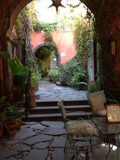 Courtyard in residence:  San Miguel de Allende.  #MEXICO.