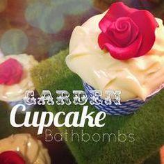 Garden Cupcake Bathbombs Garden Cupcakes, Cupcake Bath Bombs, Natural Living, Icing, Eat, Desserts, Parisian, Food, Etsy Shop