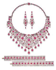 Ruby Jewelry, Royal Jewelry, Gothic Jewelry, High Jewelry, Luxury Jewelry, Jewelry Sets, Diamond Jewelry, Jewelery, Vintage Jewelry