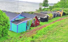 Cottages on Horsens Fjord.