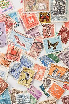 vintage stamps-LOVE