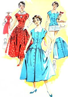 Illustrated summer fashions 1956