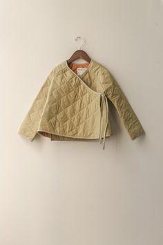 boy+girl Kimono Baby Jacket in Khaki Puff Kids Fashion, Womens Fashion, Fashion Design, Baby Kimono, Ethno Style, Kimono Jacket, Quilted Jacket, Mode Inspiration, Girl Outfits