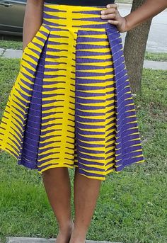 Items similar to African print high waisted Box Pleat Midi skirt; Box Pleat Skirt, Box Pleats, Pleated Midi Skirt, High Waisted Skirt, Clean And Press, Ankara Fabric, African Dress, African Fashion, Snug Fit