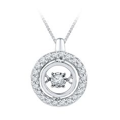 Fred Meyer Jewelers   1/6 ct. tw. Diamond Circle Lovebeat Pendant $299.00.  Each Lovebeat item has a center diamond suspended from two points always in motion, and, in turn, always sparkling.