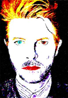 David Bowie. Reality Pop Art Print by mthomasart on Etsy