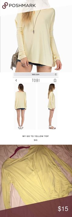 "TOBI ""My Go To Top"" Brand new, never worn Tobi Tops Tees - Long Sleeve"