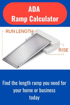 This Calculator helps you figure out what length ramp you need for your home or business. Ada Ramp, Portable Ramps, Calculator, Nashville, Business, Store, Business Illustration