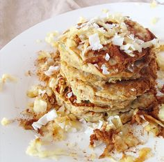 Paleo Apple Harvest Coconut Flour Pancakes {with hidden veggies}