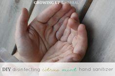 DIY Disinfecting Citrus Hand Sanitizer