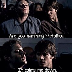 "Jensen Ackles as Dean Winchester and Jared Padalecki as Sam Winchester - Supernatural 1x04 ""Phantom Traveler"""