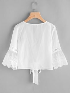 "Brodé Robe Aurora Royal White /""ORNELLA/"" main-Smocks"