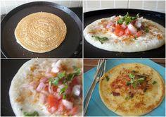 Ruchi's (NOT) Simply Food: Go to Breakfast - Rava Uttapam - Savory Pancake