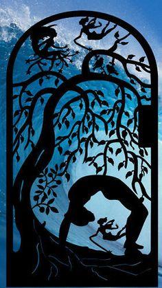 YOGA METAL GATE CUSTOM ART ESTATE GARDEN IRON ENTRY