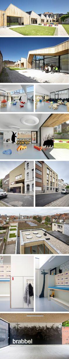 Bouwen En Inrichten - Primary school | North Antwerp, Beligum | Cuypers & Q | Timber | Sawtooth roof | Interiors | Children