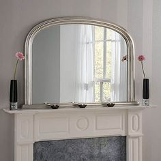 Yearn Contemporary Overmantle Mirror 112x77cm Champagne | Dunelm