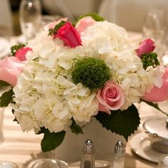 This Wedding Flower Package features 200 Ecuadorian Roses and 30 or 40 Hydrangea flowers, for which you may select the colors of your choice. In addition, we ha Church Wedding Flowers, Wedding Flower Packages, Flower Bouquet Wedding, Wedding Bells, Wedding Arrangements, Wedding Table Centerpieces, Flower Arrangements, Centerpiece Ideas, Hydrangea Centerpieces