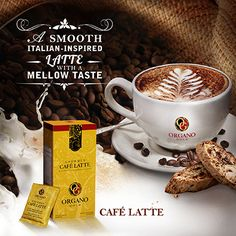 A smooth Italian inspired latte with a mellow taste.  To order: torresfamilycafe.organogold.com For free sample: torresfamilycafe@gmail.com