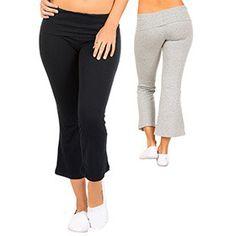 Yoga pants are the in clothing for woman for this decade. Many wear with full outfits while even not going to work out.