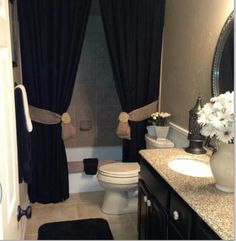 Black and cream on pinterest damasks ornate picture for Black and cream bathroom ideas