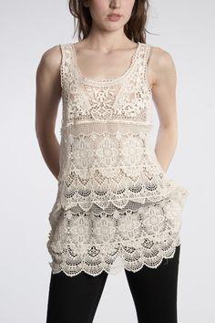 Free People Engineered Crochet tunic