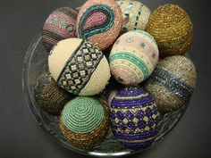 Beaded Easter Eggs | Flickr - Photo Sharing!